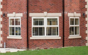 Casement style windows in white