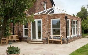 Brick orangery with uPVC windows