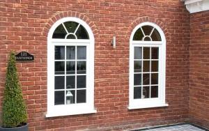 Tilt and turn windows in white
