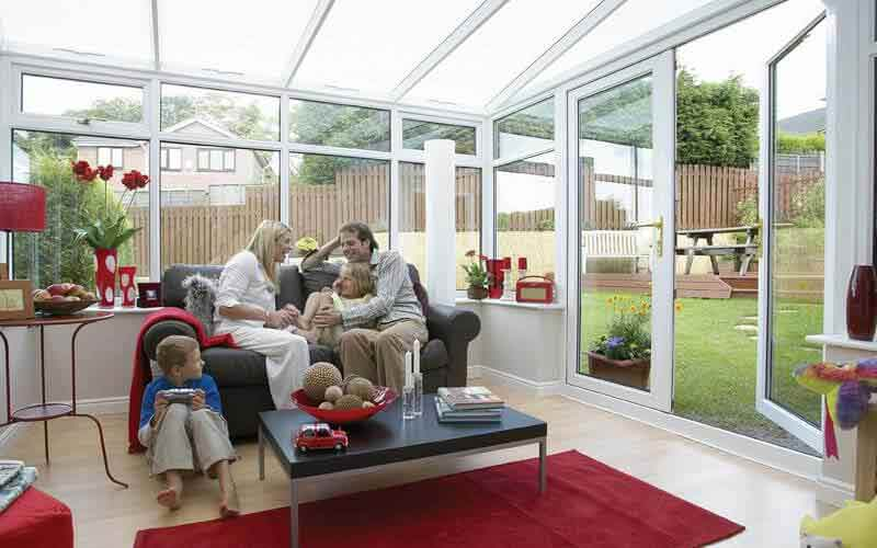 Lean- to conservatory