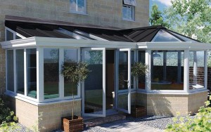 P shape conservatory with Livin Roof