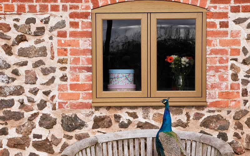 Traditional timber effect windows