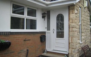 uPVC front door in white