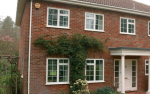 Double glazed windows with astragal bars