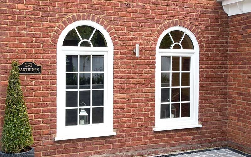 White tilt and turn windows