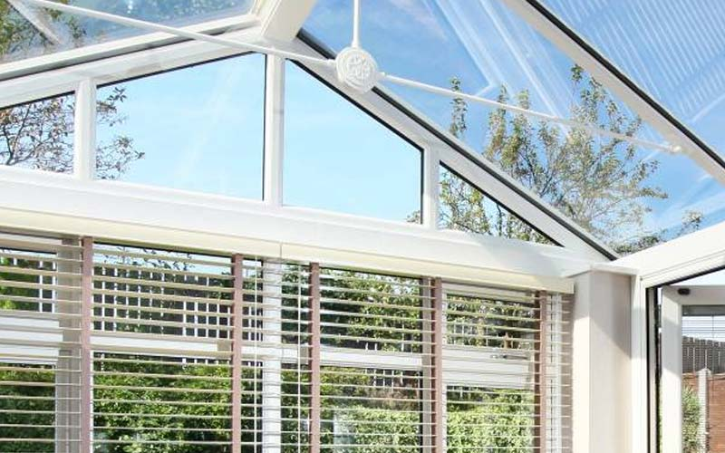 Gable front conservatory internal
