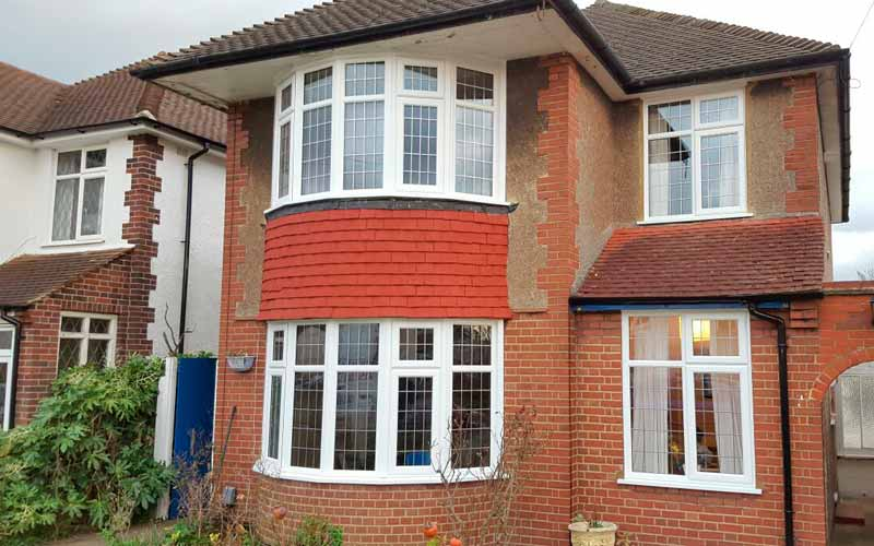 uPVC bow/bay windows in a curved arrangement