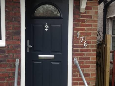 Blue composite door in Bromley