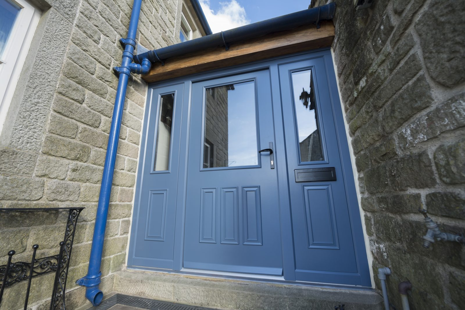 Composite door blue